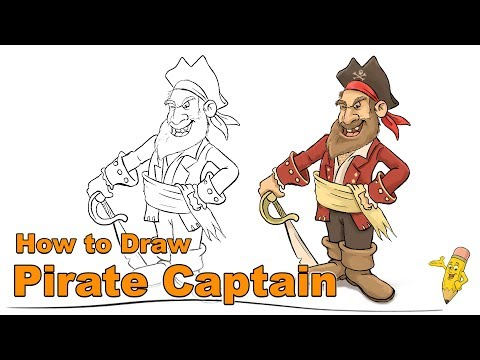 Draw a Pirate Captain - Cartoon Drawing Studio - Learn to Draw