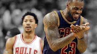LeBron James vs Derrick Rose Full Highlights ECSF G6 Cavs at Bulls - Cavs Move on!