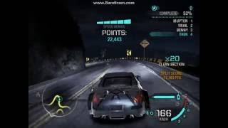 Canyon Drift with Nissan 350z from Tokyo Drift  (Need for Speed : Carbon)