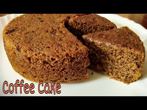 Spongy Eggless Coffee Cake In Cooker | No Cocoa Powder/ No Condensed Milk/ No Baking Soda
