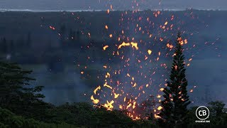 Explosions From Kilauea Lava Fissure 17 May 13, 2018