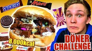 DÖNER CHALLENGE - 8.000 Kalorien Süßigkeiten Döner!