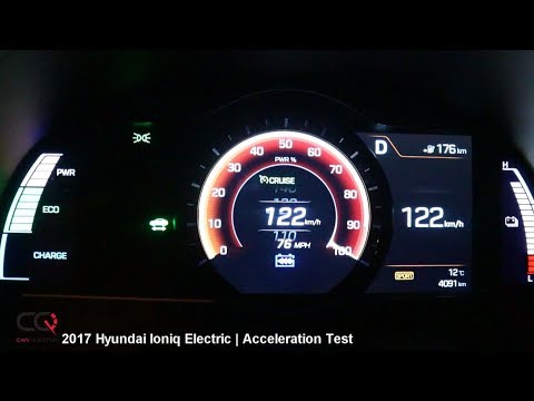 2017 Hyundai IONIQ ELECTRIC | 0-100kmh / 0-60mph Acceleration Test | Review Part 6/7