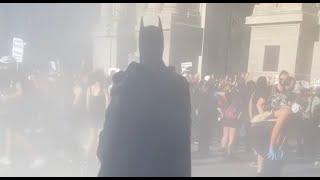 Batman Arrives At Philly Protest To Save Blacks Live Matter
