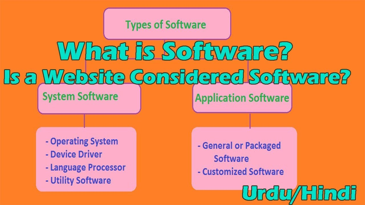 What is software in Hindi/Urdu   Is a Website Considered Software?