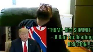 """TRUMP-KIM SUMMIT"" — A Bad Lip Reading - REACTION!!!!!!"