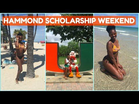 Miami Hammond Scholarship Weekend Vlog