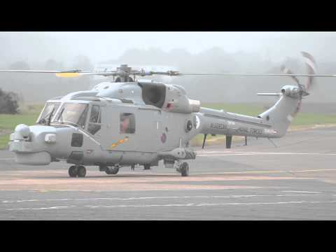 Algerian Navy Lynx ZK194 at Exeter Airport on the 21st August 2015