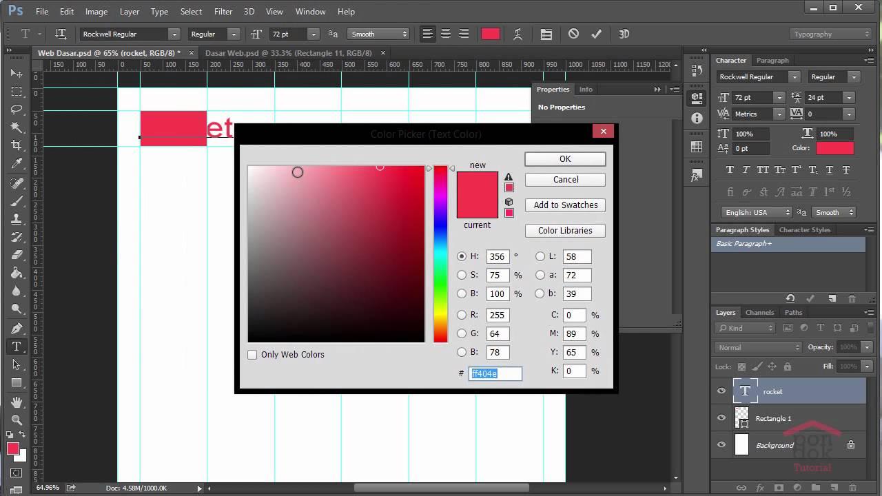 Cara Membuat Desain Web Di Photoshop Part 3 : Pembuatan Logo