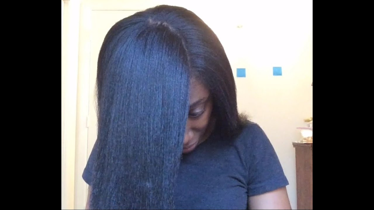 how to clean straightened hair