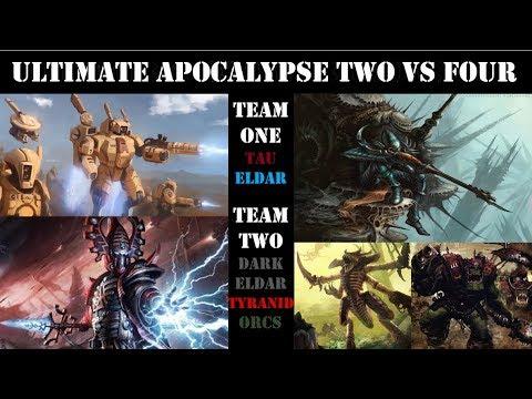Dawn of War Ultimate Apocalypse Mod: Two vs Four Siege Battle.