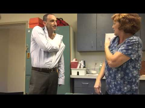 Doctor Lehrman gets his 2015 flu shot