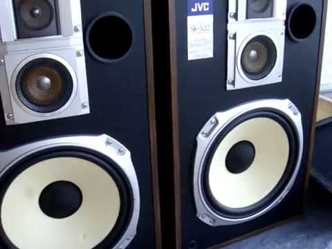 JVC speakers SK-S22, made in Japan how SOUND music playing