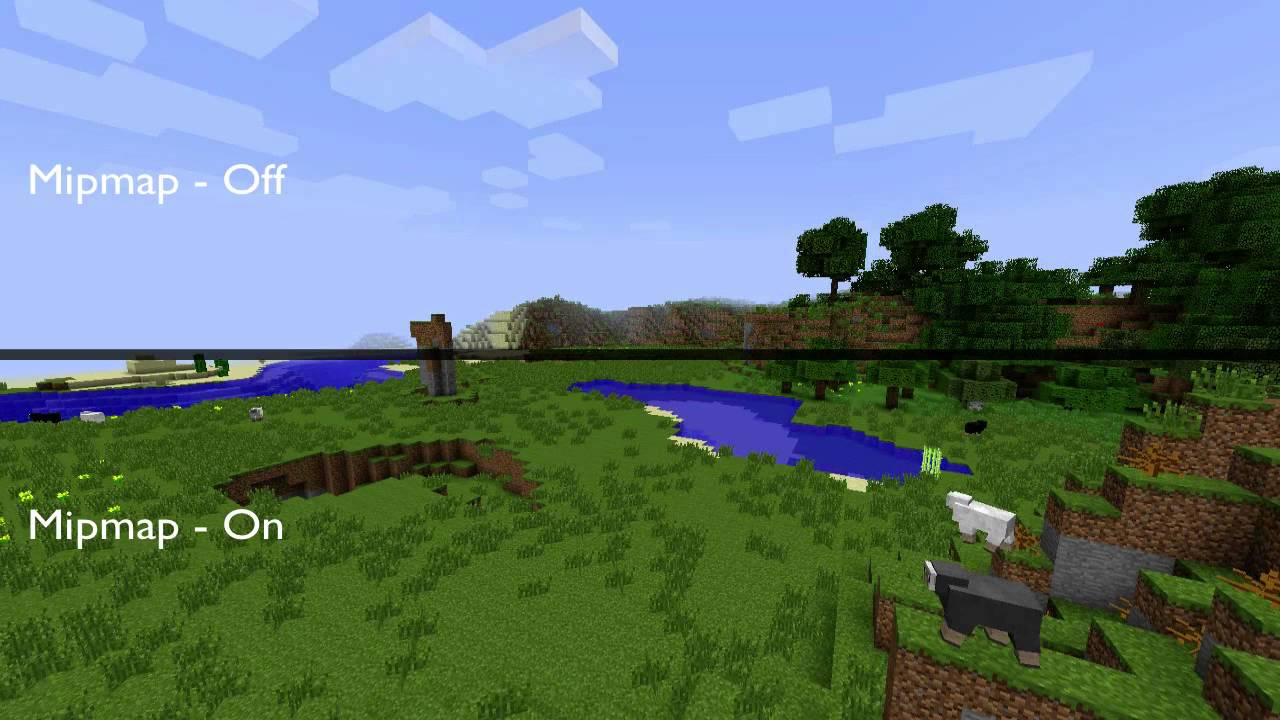 Minecraft Mipmap Off vs On - YouTube