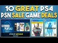 NEW PSN Extended Play SALE! 10 GREAT PS4 Game Deals NOW!