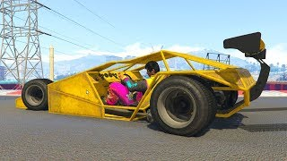 RACING IN RAMP CARS! - GTA 5 Funny Moments #736