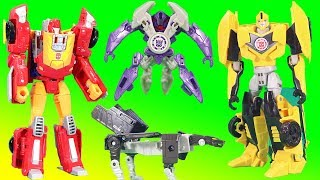 Transformers Generations Titans Return Ravage leads Decepticons! Can Bumblebee & Hot Rod stop them?