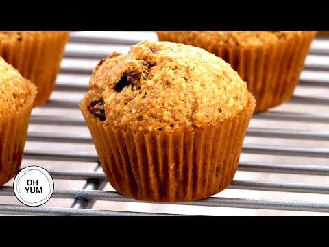 banana bran muffins with strawberry butter
