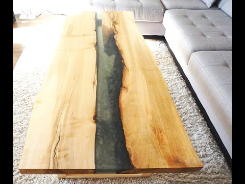 Williams Eco Design - DIY - how to build epoxy resin coffee table