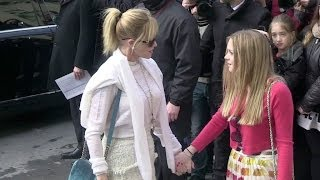 Melanie Griffith and her daughter Stella Banderas at Chanel Fashion show in Paris