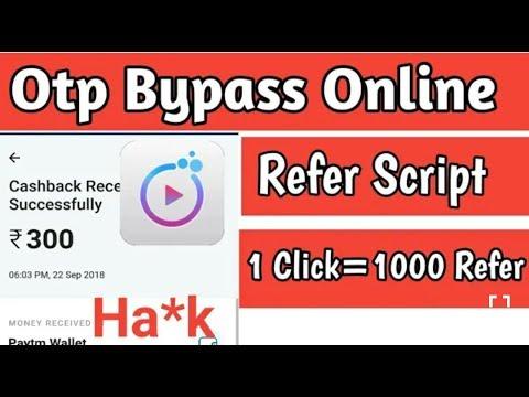 BB CLIP App PAYTM MONEY ADDING Online Otp Bypass Unlimited Refer Script Trick 1 CLICK 300 PAYTM FREE