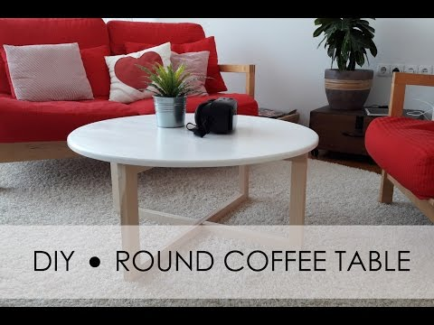 DIY - round coffee table - EASY & SIMPLE