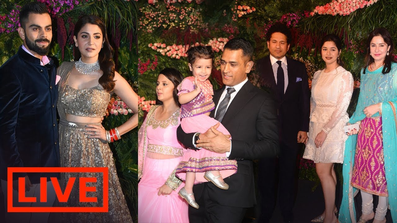 Live Video Virat Kohli Anushka Sharmas Wedding Reception Mumbai
