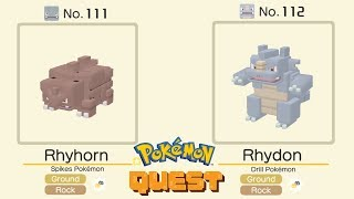 Pokemon Quest Rhyhorn and Rhydon All Special Moves