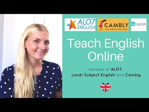 Teach English Online - My Review Of Cambly, ALO7 And Landi Subject English
