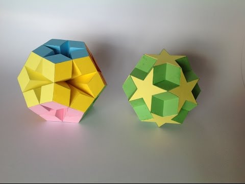 Paper polyhedra (made by my father) HD
