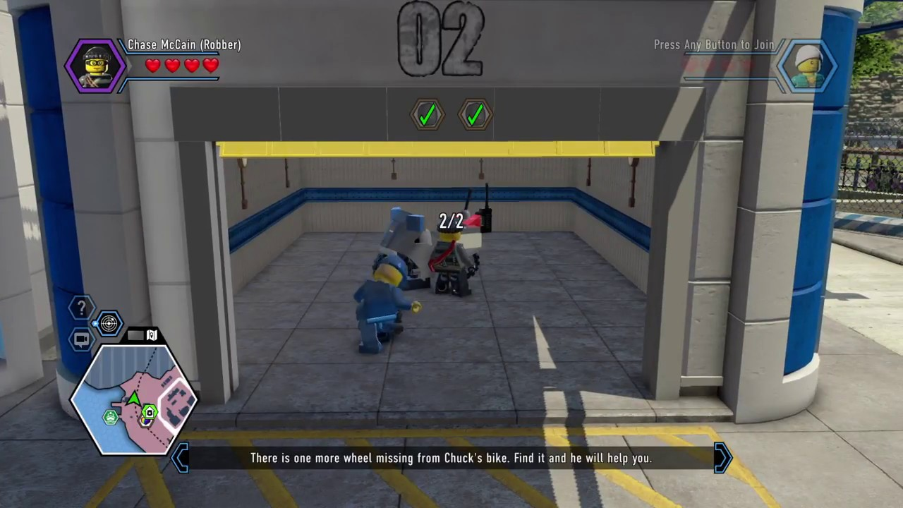 Lego City Undercover Ps4 How To Find Chuck S Second Wheel Youtube