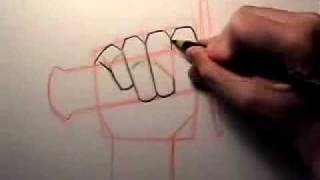 How to Draw a Hand Holding a Sword [AUDIO RE-UPLOAD](Re-uploading this older video to restore audio! :), 2011-08-21T11:54:06.000Z)