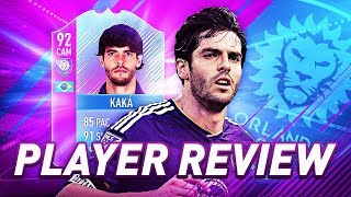 IS HE WORTH IT?! 92 END OF ERA SBC KAKA PLAYER REVIEW! FIFA 18 ULTIMATE TEAM