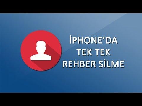 İphone Tek Tek Rehber Silme - İphone Rehber Düzenleme