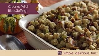 Creamy Wild Rice Stuffing
