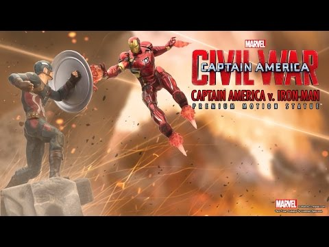 Factory Entertainment - Captain America v. Iron Man Premium Motion Statue