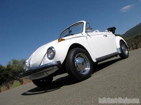 1978 vw super beetle convertible for sale youtube. Black Bedroom Furniture Sets. Home Design Ideas