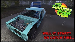 STARTING THE CAR FOR THE FIRST TIME! - My Summer Car