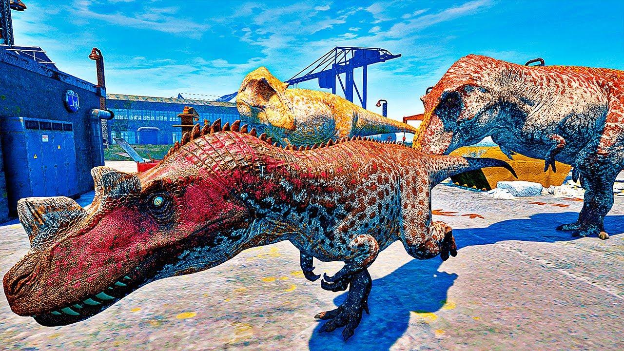 Download The Isle - Ceratossauro Do Porto, Casal De Tiranossauro Rex Tentou Me Devora PT/BR|689