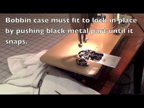 Step 40 Lock Bobbin Case Singer 40 YouTube Classy How To Put Bobbin Case Back In Singer Sewing Machine