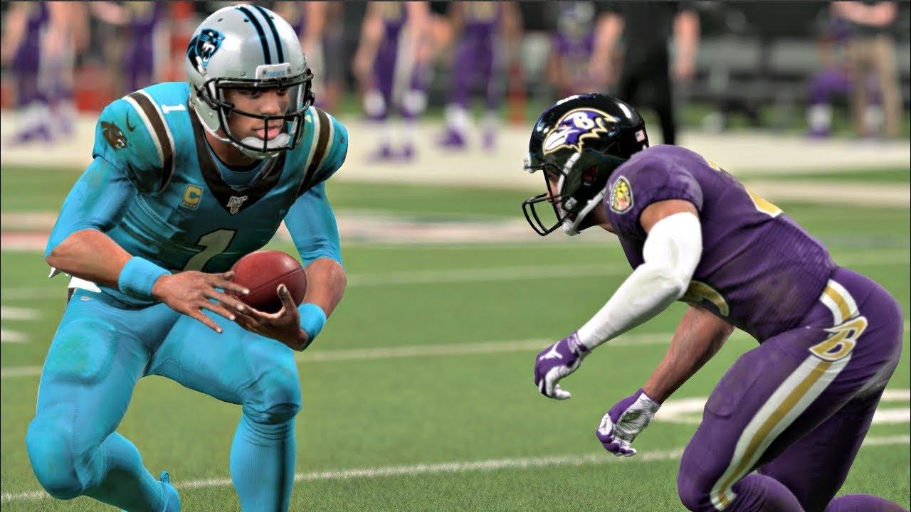 new products fa624 79619 Madden 20 Gameplay Carolina Panthers vs Baltimore Ravens – CPU vs CPU  Madden NFL 20 Color Rush