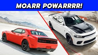 2020 Dodge Challenger Super Stock and 2021 Charger Redeye