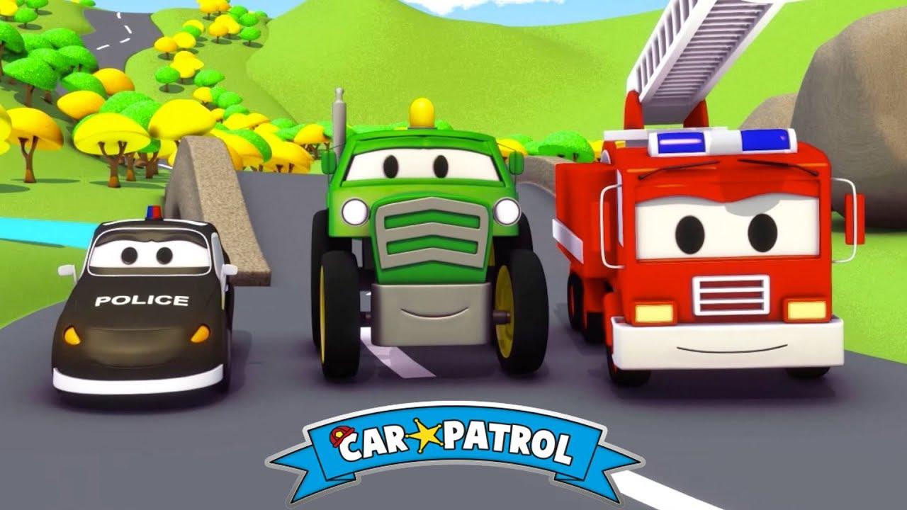 Devriye Arabası | Devriye Arabası ve Traktör - Çizgi Film