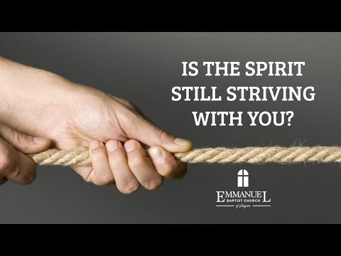 Is the Spirit still striving with you? - Sunday Evening 1/12/20 - Pastor Bob Gray II