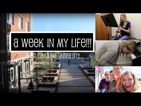 WEEK IN THE LIFE OF A MUSIC MAJOR!!!
