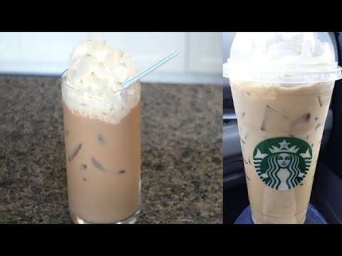 Diy Starbucks Iced White Chocolate Mocha Youtube