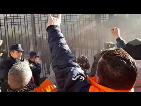 Un millar de personas protesta en Madrid contra los cierres de Alcoa