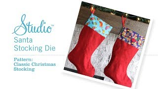 How to make the Studio Classic Christmas Stocking with Pam