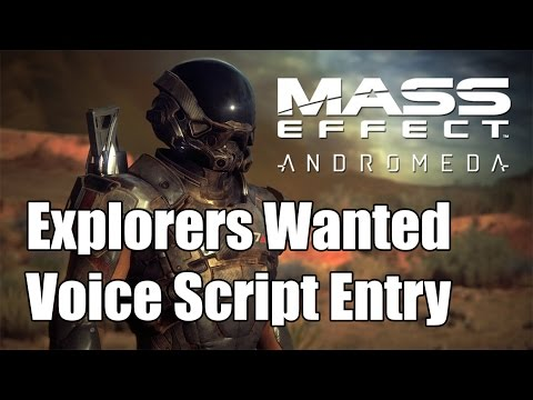 Mass Effect Andromeda Explorers Wanted Entry