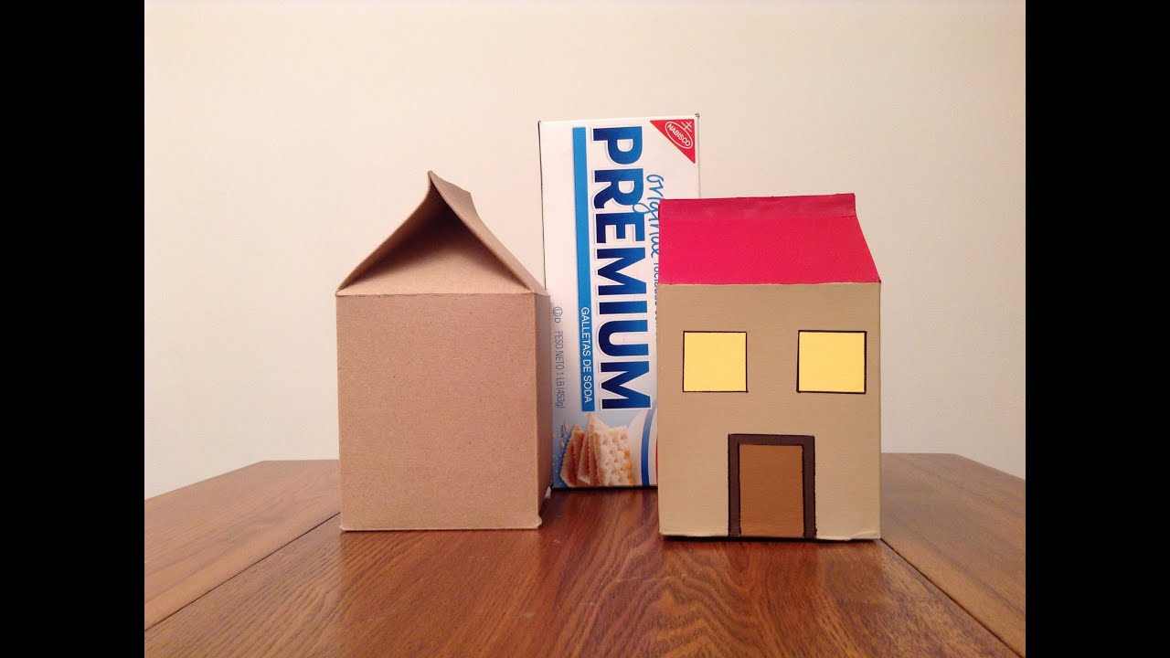 How to make a house from a cracker box youtube for House in a box